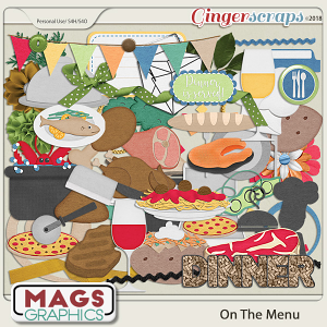 On The Menu DINNER PACK by MagsGraphics