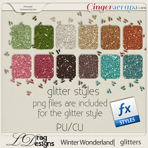Winter Wonderland: Glitterstyles by LDragDesigns