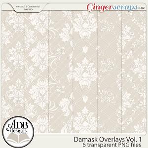 Damask Overlays Vol 01 by ADB Designs