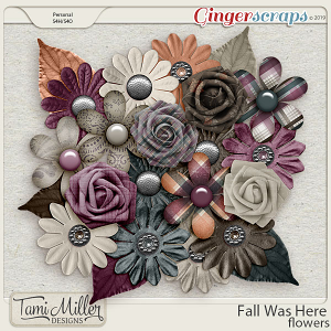Fall Was Here Flowers by Tami Miller Designs