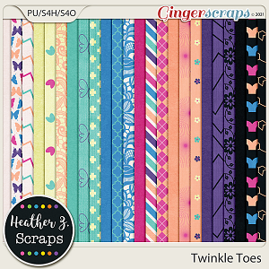 Twinkle Toes PAPERS by Heather Z Scraps