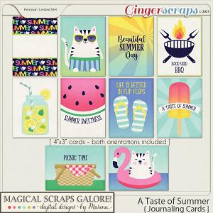 A Taste of Summer (journaling cards)