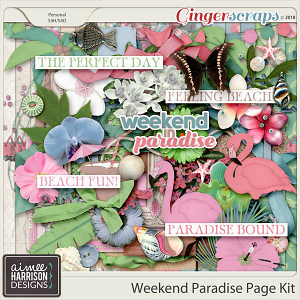 Weekend Paradise Page Kit by Aimee Harrison