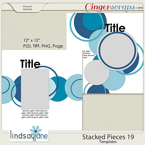 Stacked Pieces 19 Templates by Lindsay Jane