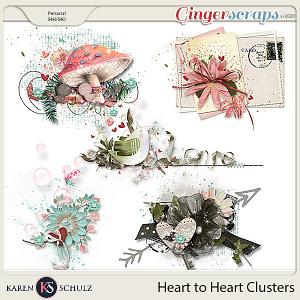 Heart to Heart Clusters by Karen Schulz