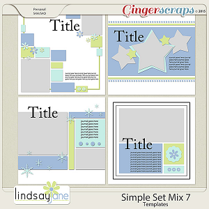 Simple Set Mix 7 Templates by Lindsay Jane