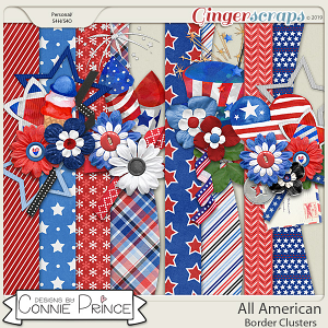 All American - Border Clusters by Connie Prince