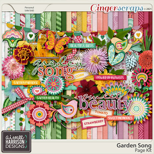 Garden Song Page Kit by Aimee Harrison