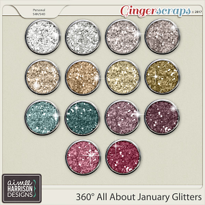 360° All About January Glitters by Aimee Harrison