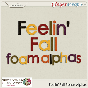 Feelin' Fall Bonus Alphas by Trixie Scraps Designs