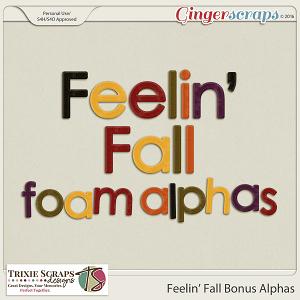Feelin' Fall Bonus Alphas by Trixie Scraps Designs