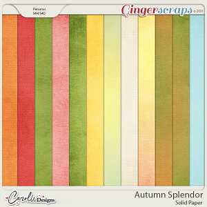 Autumn Splendor-Solid papers