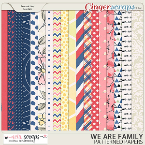 We Are Family - Patterned Papers - by Neia Scraps