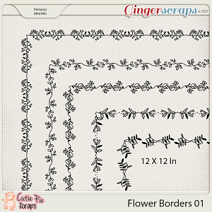 Flower Page Borders 01 - For Layouts