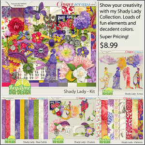 Shady Lady Collection by Key Lime Digi Design