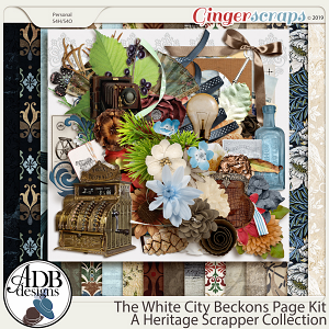 The White City Beckons Page Kit by ADB Designs
