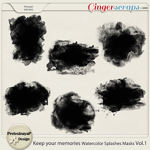 Keep your memories Watercolor Splashes Photomasks Vol.1