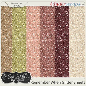 Remember When Glitter Sheets