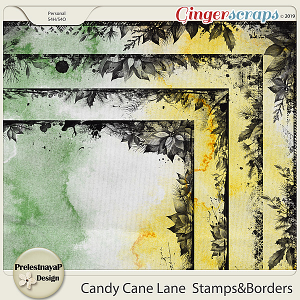 Candy Cane Lane  Stamps & Borders
