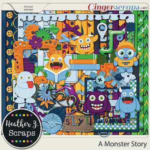 A Monster Story KIT by Heather Z Scraps