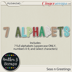 Seas n Greetings ALPHABETS by Heather Z Scraps
