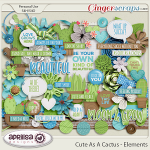 Cute As A Cactus - Elements by Aprilisa Designs