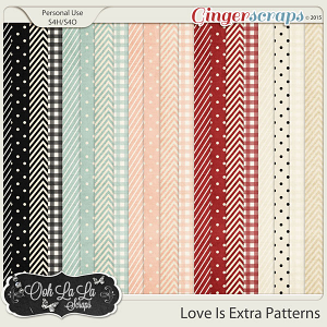 Love Is Pattern Papers