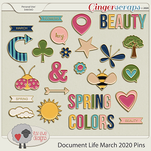 Document Life March 2020 Pins by Luv Ewe Designs