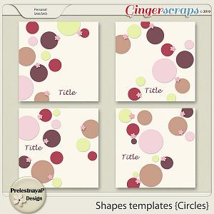 Shapes templates {Circles}