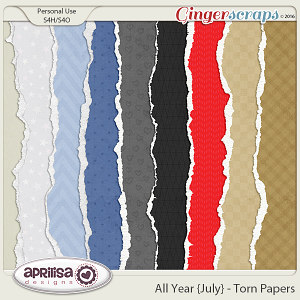 All Year {July} - Torn Papers