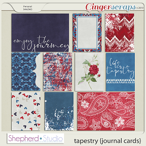 Tapestry Journal Cards for Pocket Scrapbooking by Shepherd Studio