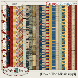 Down the Mississippi Pattern Papers by Scraps N Pieces