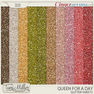 Queen for a Day Glitter Sheets by Tami Miller Designs