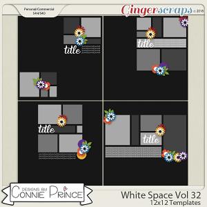 White Space Volume 32 - 12x12 Temps (CU Ok) by Connie Prince