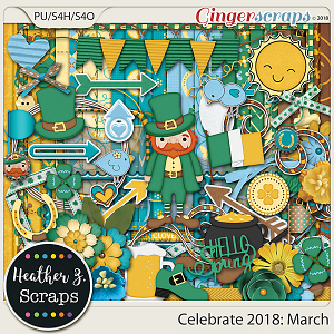 Celebrate 2018: March KIT by Heather Z Scraps