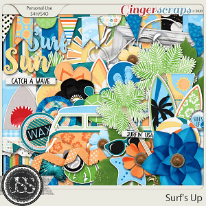 Surf's Up Digital Scrapbook Kit