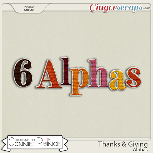 Thanks & Giving - Alpha Pack AddOn by Connie Prince