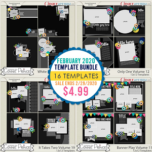 February 2020 Template Bundle by Connie Prince