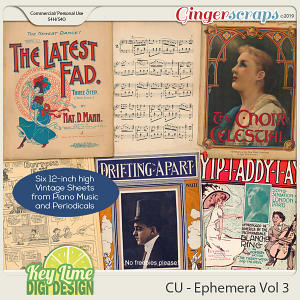 CU Ephemera Volume 3 by Key Lime Digi Design