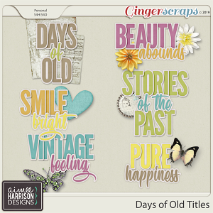 Days of Old Titles by Aimee Harrison