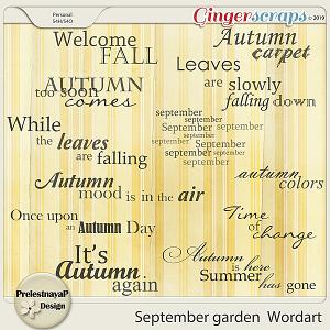 September garden Wordart