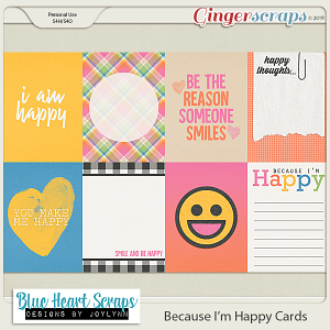 Because I'm Happy Journal Cards