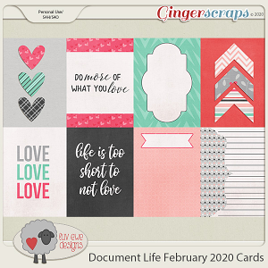 Document Life February 2020 Journal Cards by Luv Ewe Designs