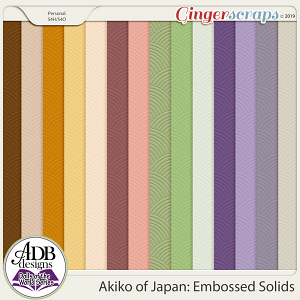 Akiko Embossed Solids {DOTW - Japan} by ADB Designs