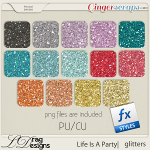 Life Is A Party: Glitterstyles by LDragDesigns