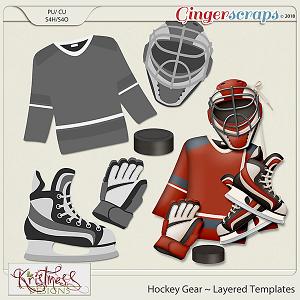 CU Hockey Gear Layered Templates