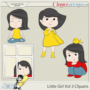 Doodles By Americo: Little Girl Vol 3 Cliparts