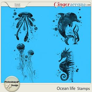 Ocean life Stamps