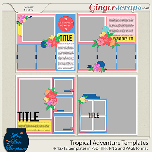Tropical Adventure Templates by Miss Fish