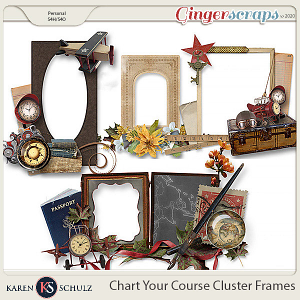 Chart Your Course Cluster Frames by Karen Schulz
